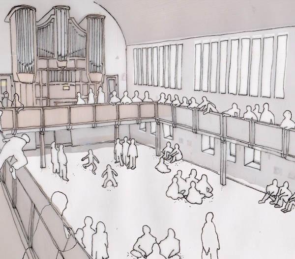 Illustration der Immanuelkirche von Michael Graessner