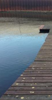 Malerischer Steg zum Wasser im Hafen