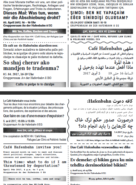 Cafe Hafenbahn Flyer