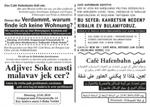 Café Hafenbahn Flyer